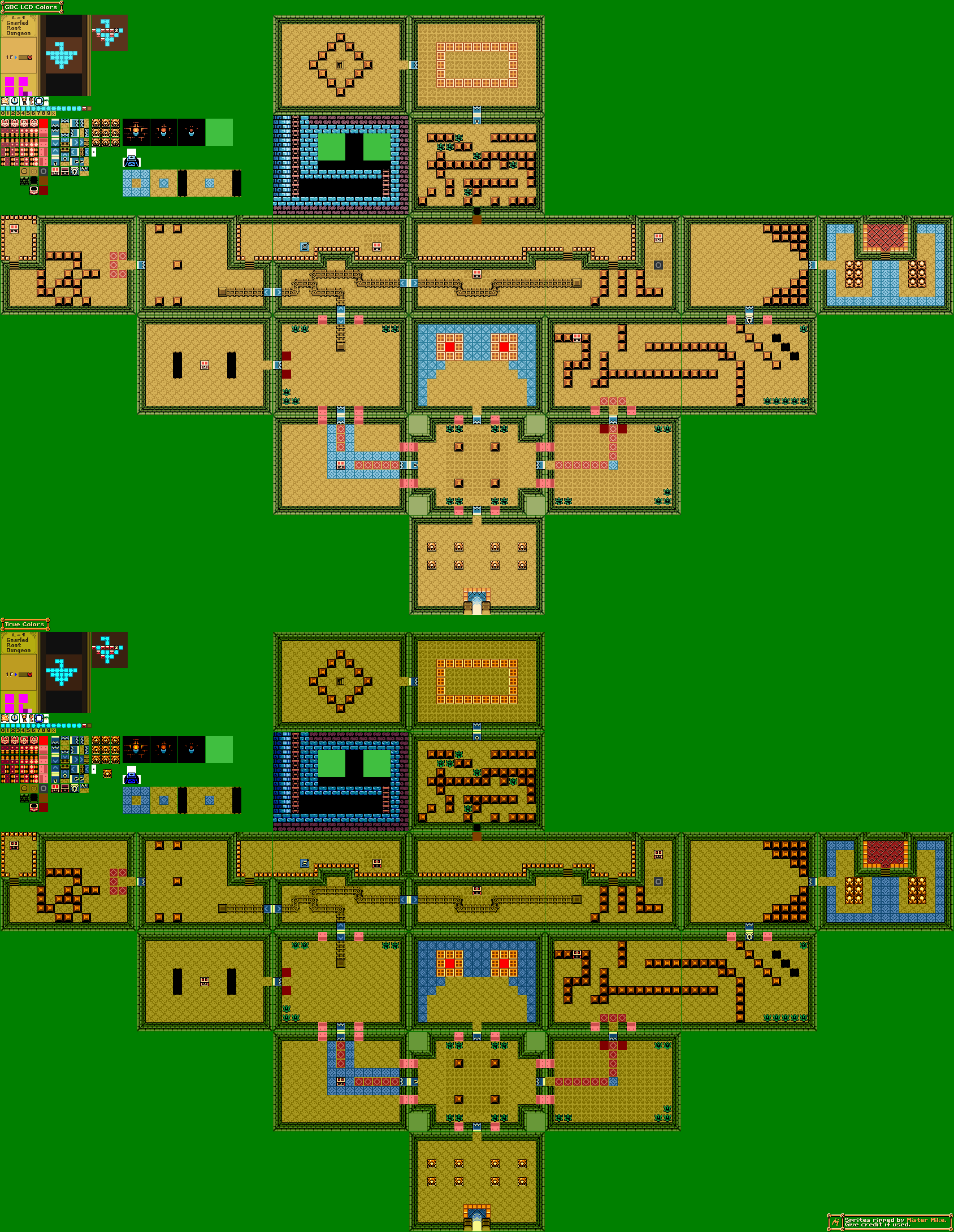 Game boy color legend of zelda - Click For Full Sized Image Gnarled Root Dungeon