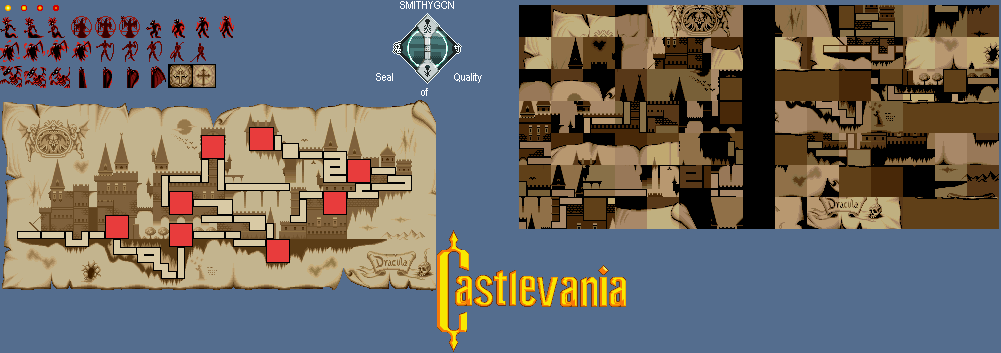 Castlevania World Map.Playstation Castlevania Chronicles Castle Map X68000 The
