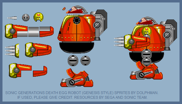 Death Egg Robot (Sonic Generations, Sonic Genesis-Style)