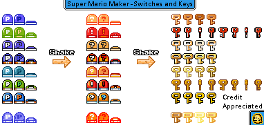 Switches & Keys (Super Mario Maker Style)