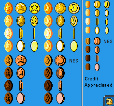Star Coins & Moon Coins (Super Mario Maker-Style)