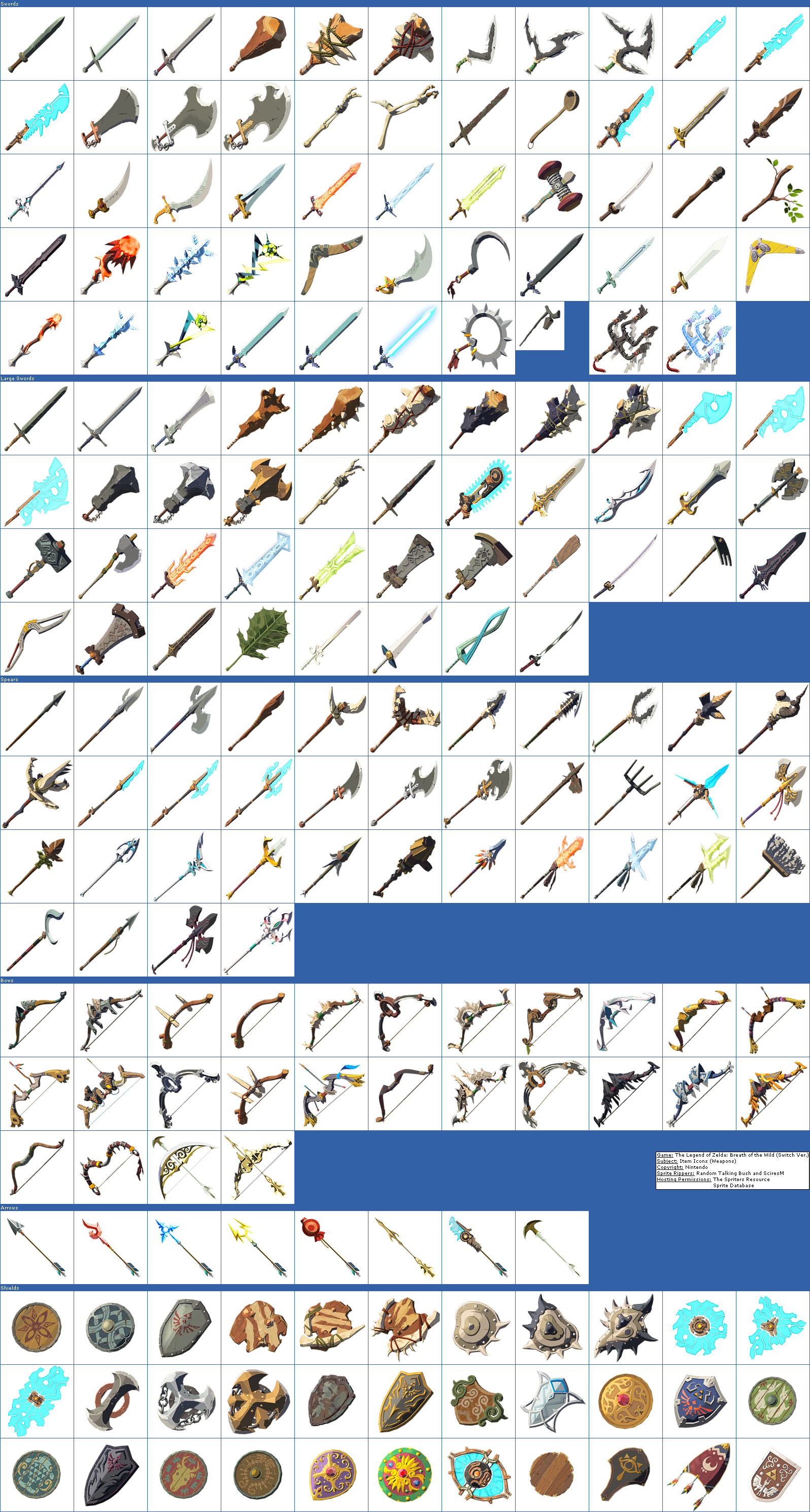 Item Icons (Weapons)