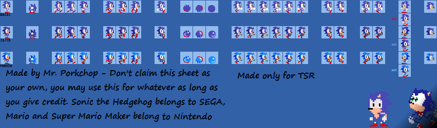 SCD Mini-Sonic (Super Mario Maker-Style)