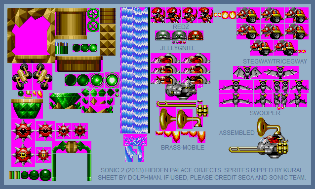 Hidden Palace Zone Objects