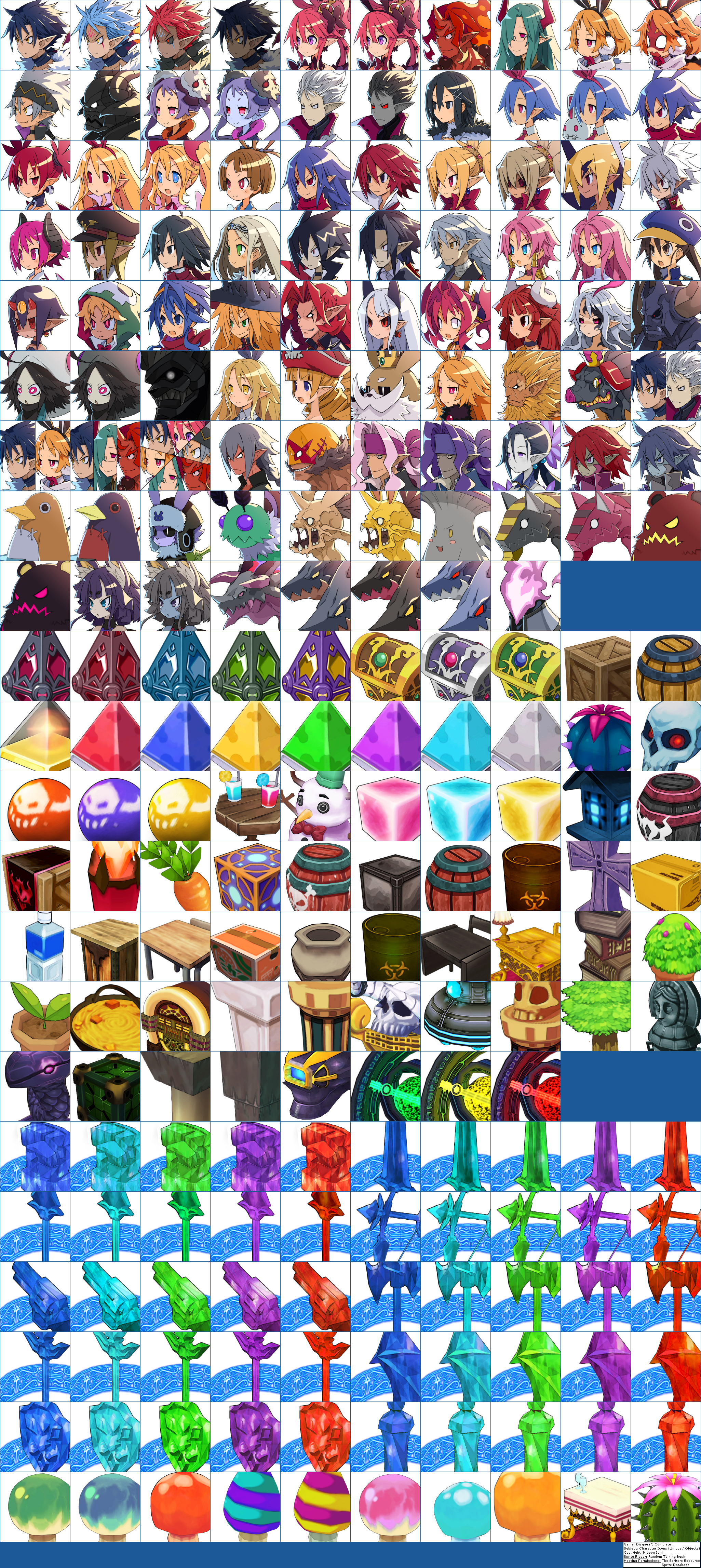 Character Icons (Unique / Objects)