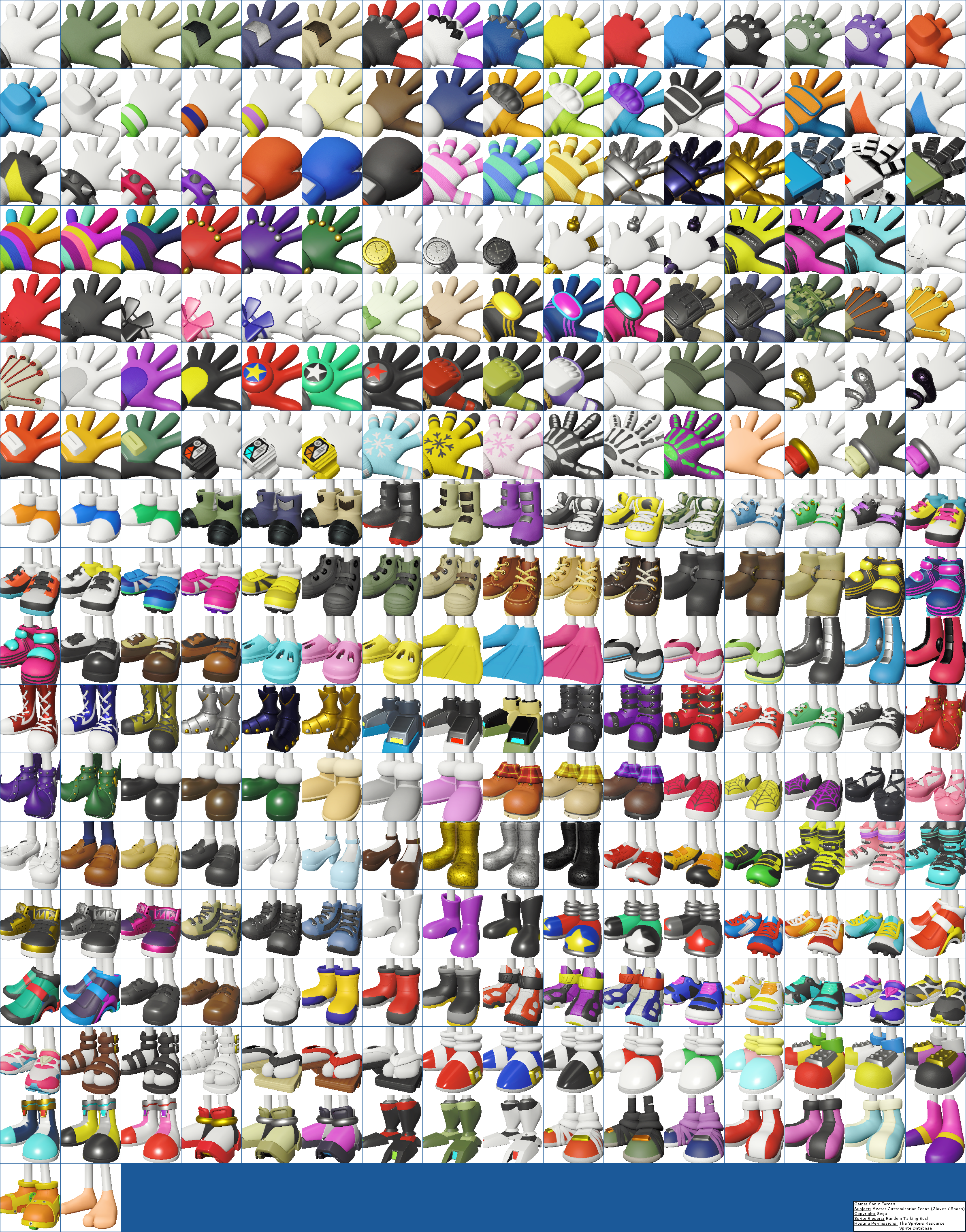 Avatar Customization Icons (Gloves / Shoes)