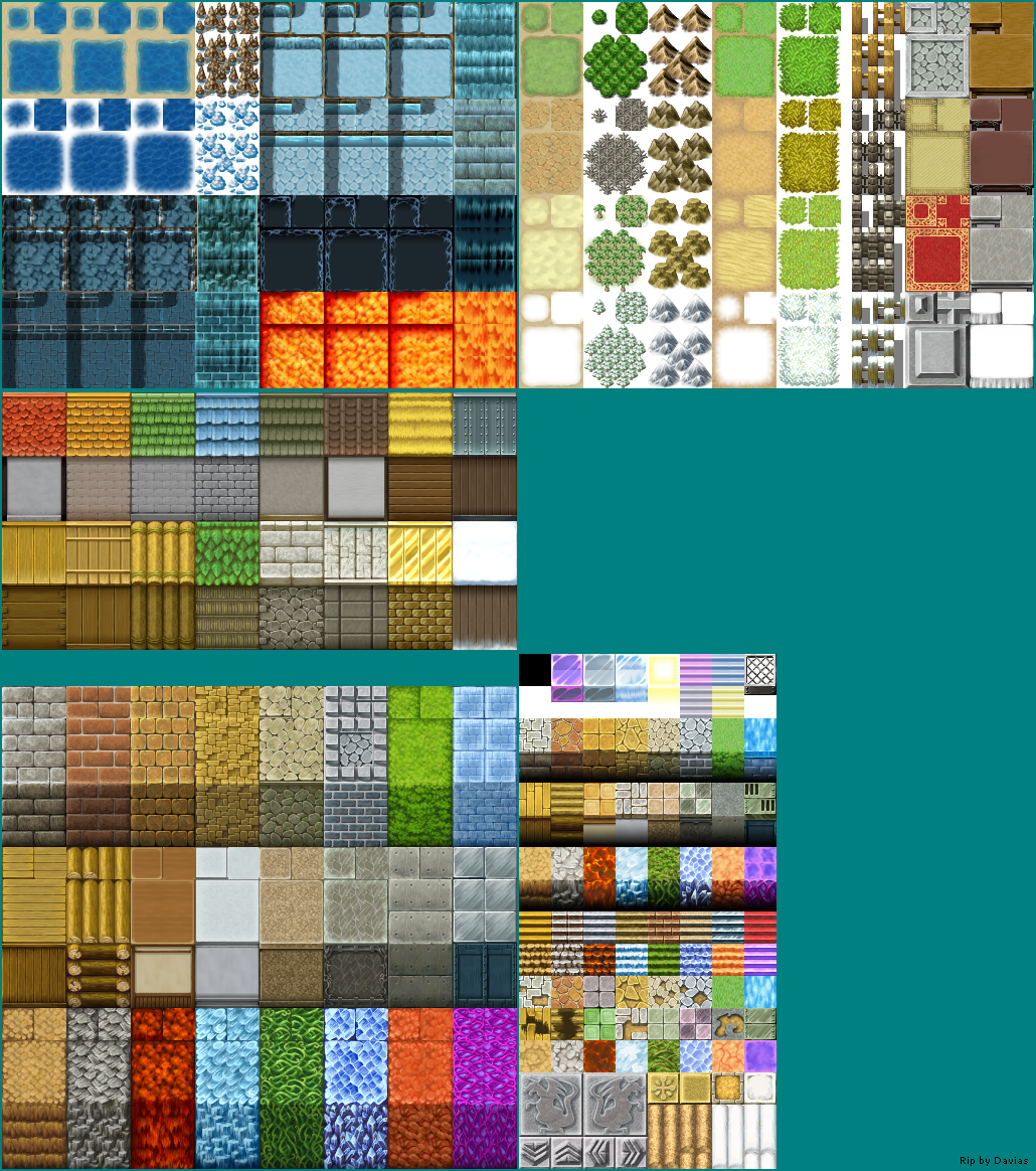 PC / Computer - RPG Maker VX - Tile A1-A5 - The Spriters Resource