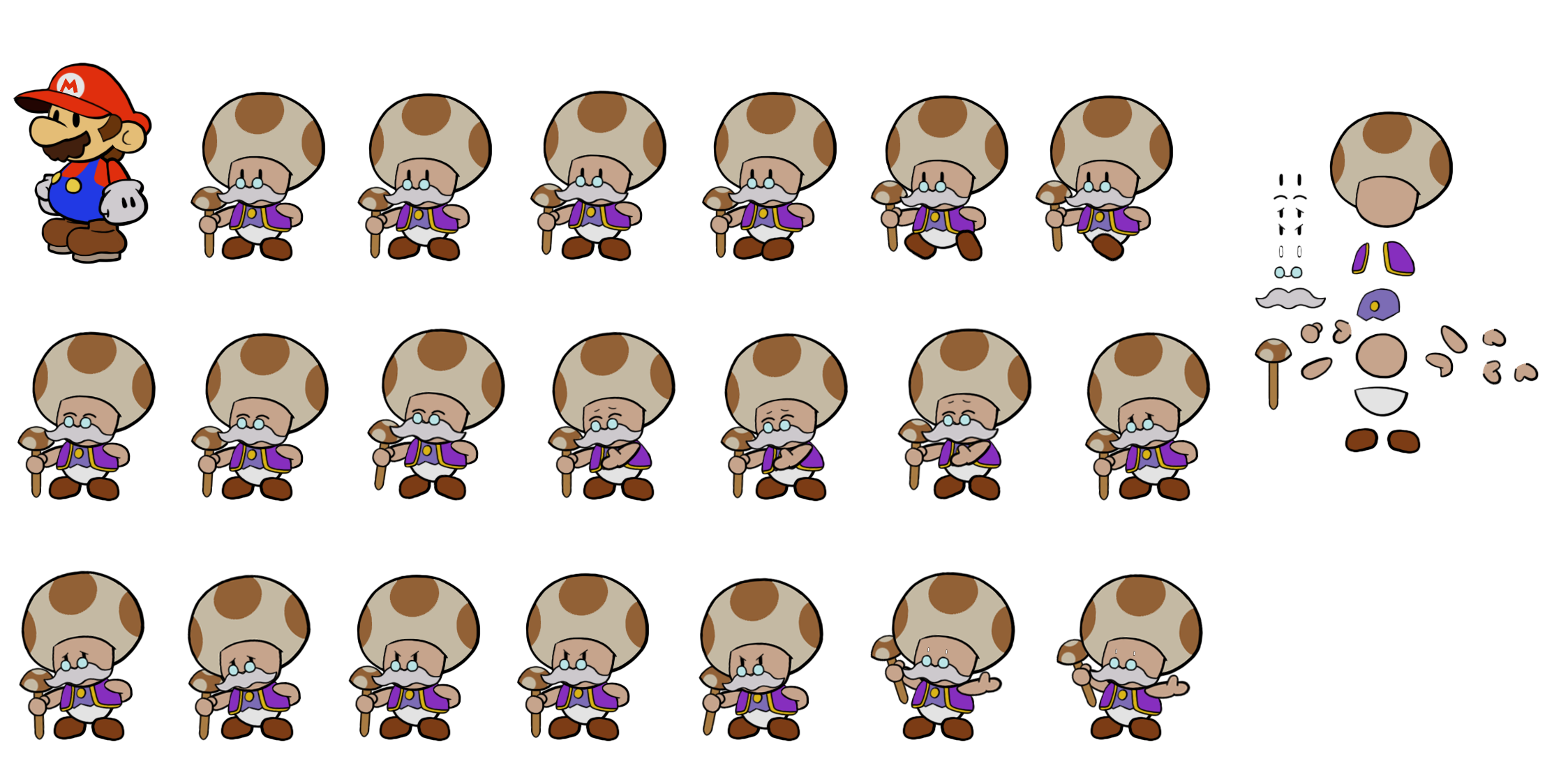 Toadsworth (Paper Mario Style)