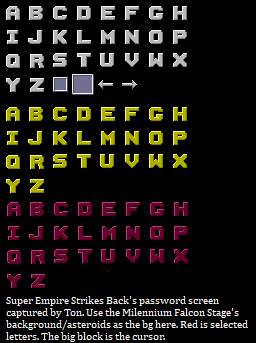 Password & High Score Font
