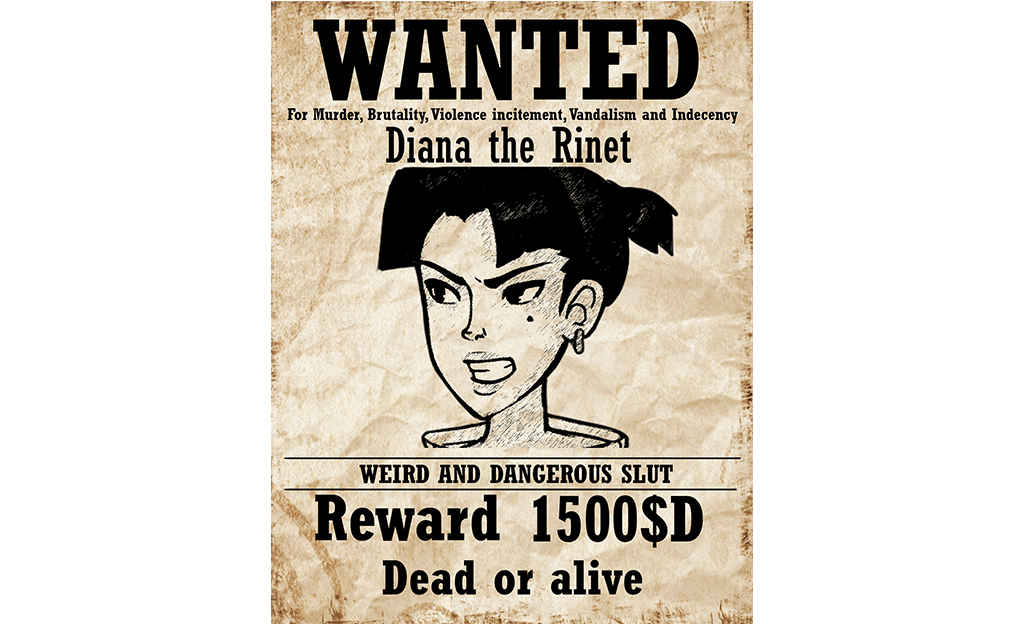 Diana's Wanted Poster